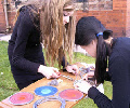 stained glass workshops with school students .